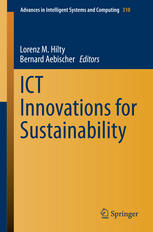 Book cover ICT Innovations for Sustainability