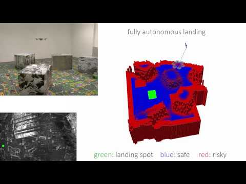 Autonomous Quadrotor Landing using Continuous On-Board Monocular-Vision-based Elevation Mapping