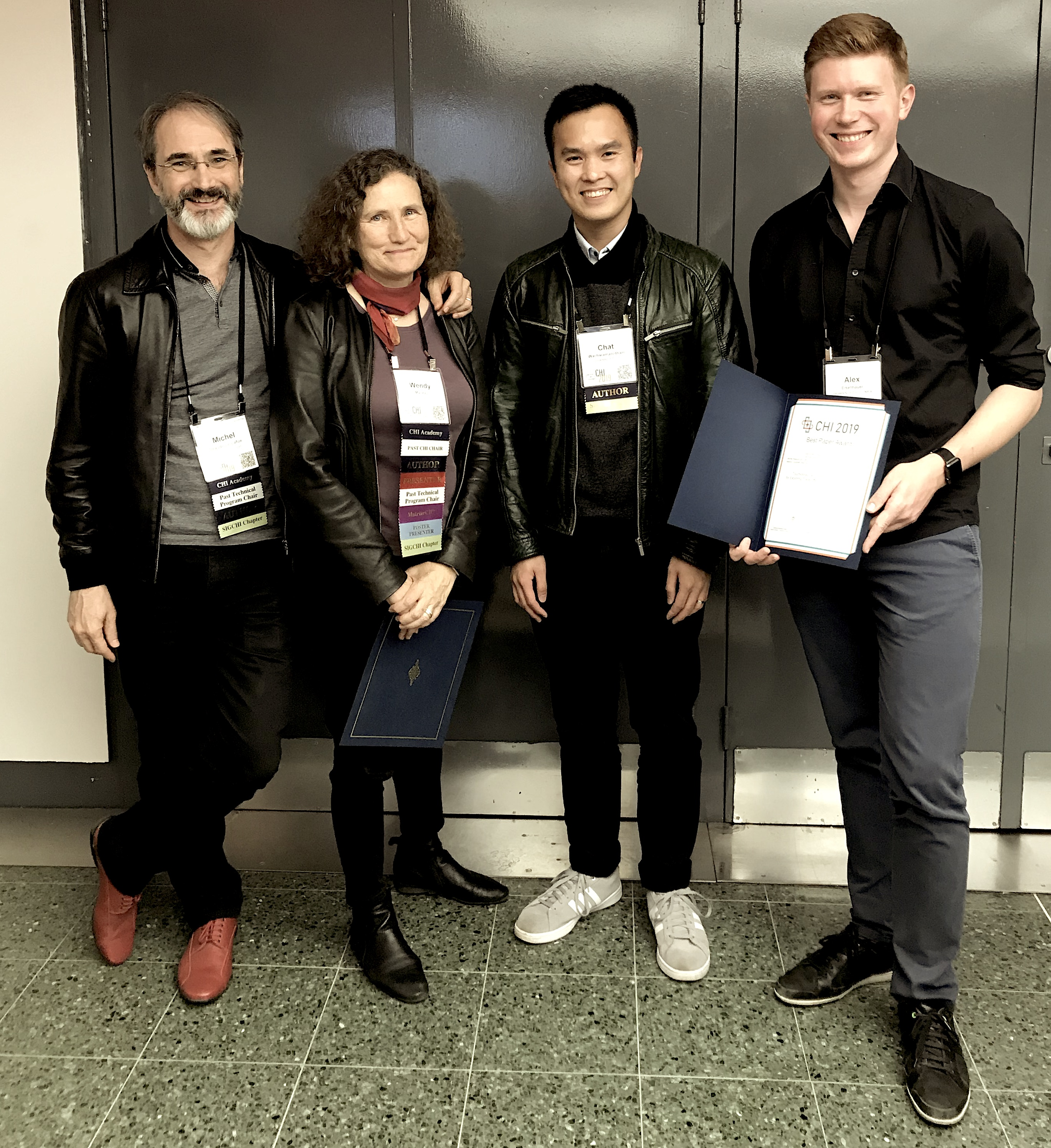 CHI 2019 Best Paper Award