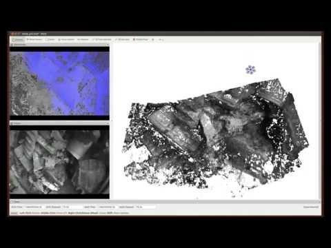 Autonomous, Live, Dense 3D Mapping of an Outdoor Mock-up Disaster Zone with a Quadrotor MAV