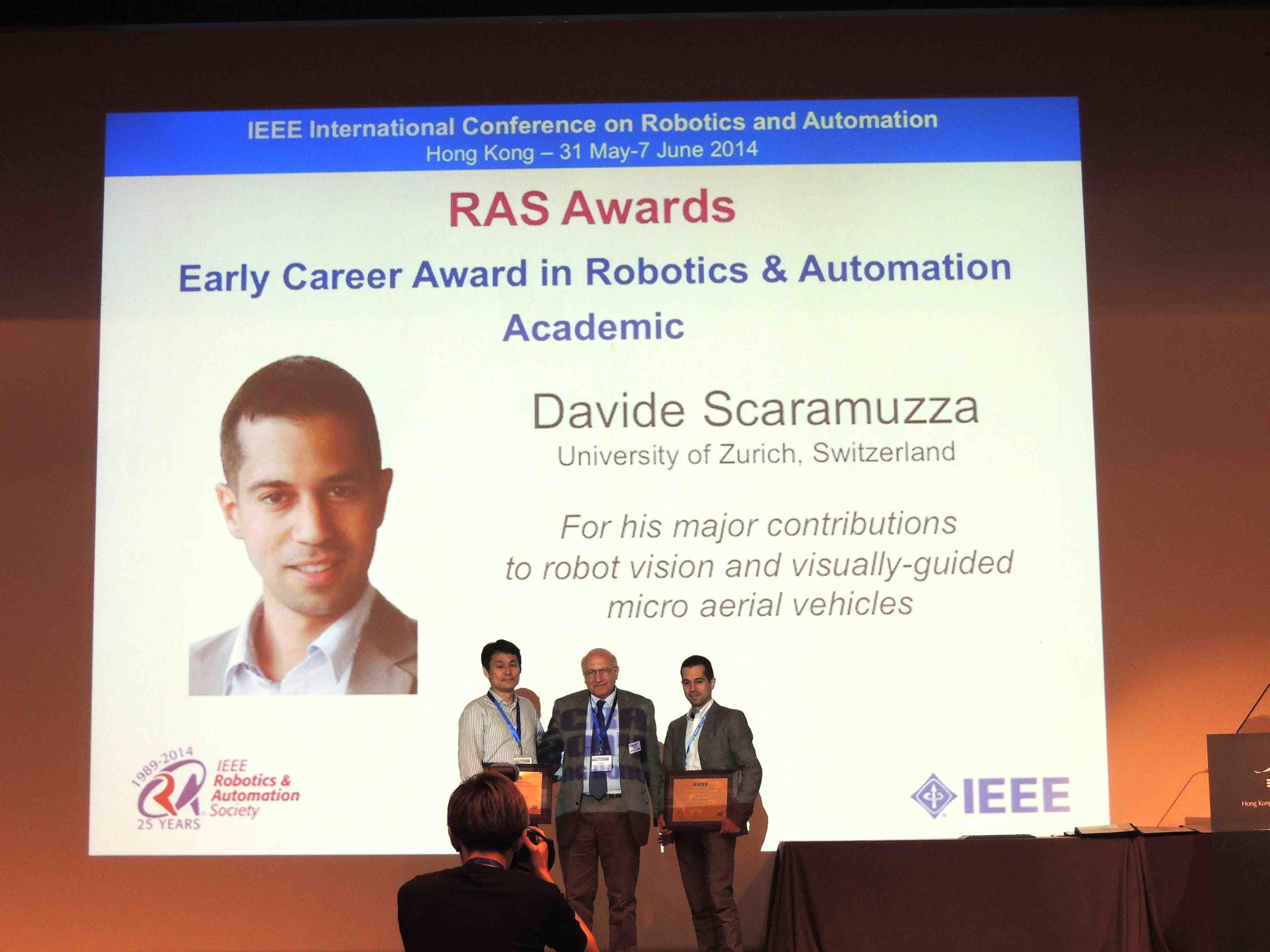 Uzh Robotics And Perception Group Davide Scaramuzza Wins Ieee