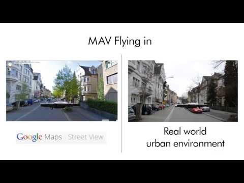 MAV Urban Localization from Google Street View Data